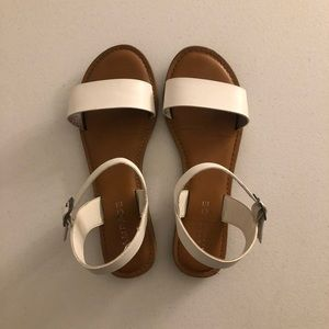 White Leather Rampage Sandals